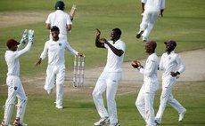 West Indies team celebrate
