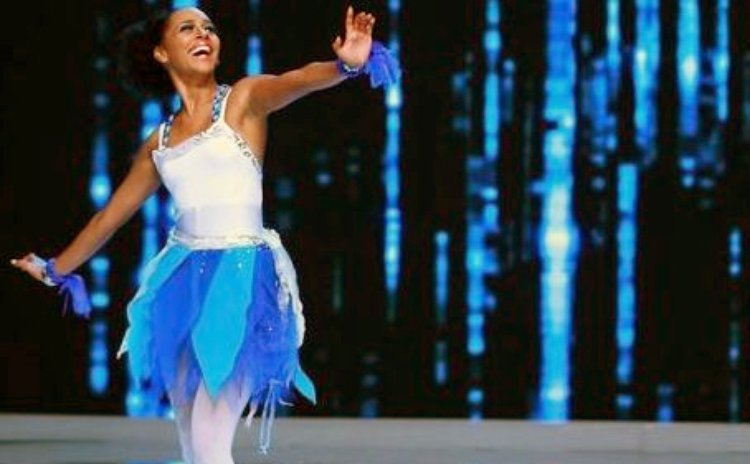 Miss Dominica performs in the Talent Round of the Miss World Competition