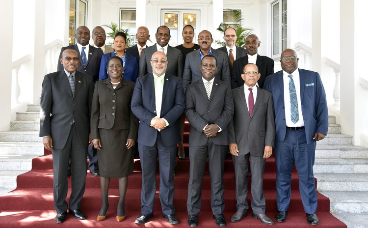 Official photo of the OECS 62nd Meeting of the heads of government