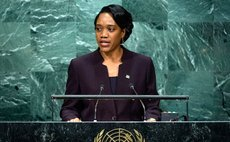 Foreign Minister Francine Baron of Dominica addresses the general debate of the General Assembly's seventy-first session. UN Photo/Manuel Elias
