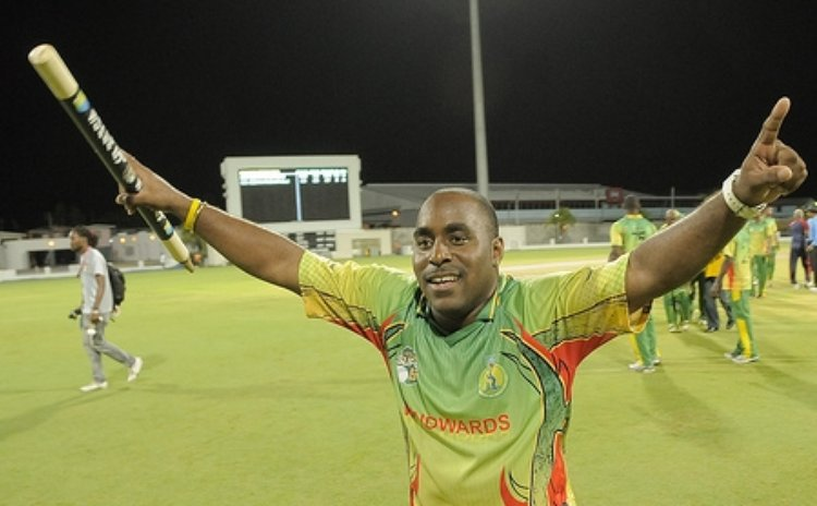 Sebastien celebrates (WestIndiesCricket photo)