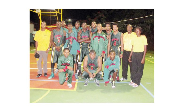 Victorious DOMINICA BOYS Basketball Team in 2015 Windward Islands Schools Games.  Photo Courtesy: Sports Division Facebook Page
