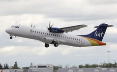 LIAT leaves Melville Hall Airport