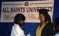 PHOTO FILE:All Saints graduation ceremony