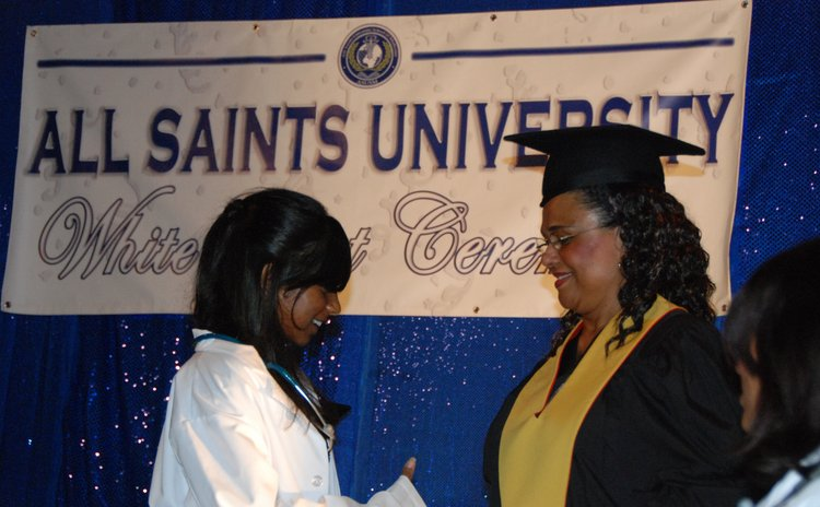 PHOTO FILE:All Saints graduation ceremony