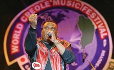 An artiste performs at the WCMF