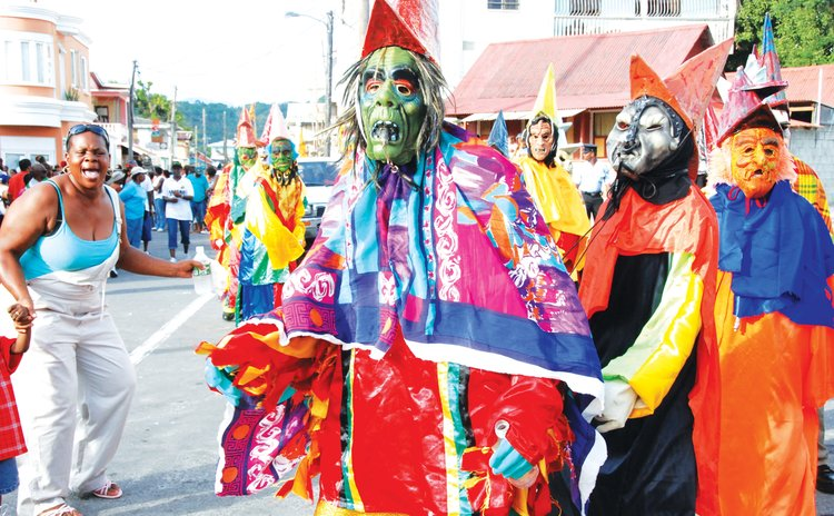 Ban Move at the opening of Carnival in Roseau