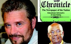 Jones,left, and Baron. The Chronicle masthead