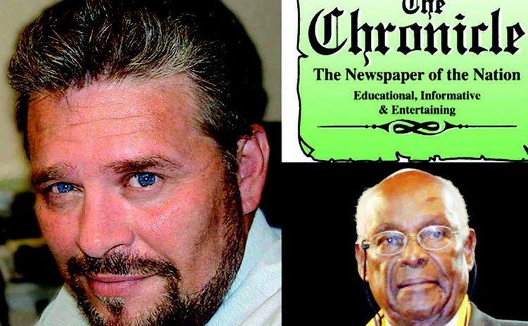 Jones,left, and Baron. The Chronicle masthead