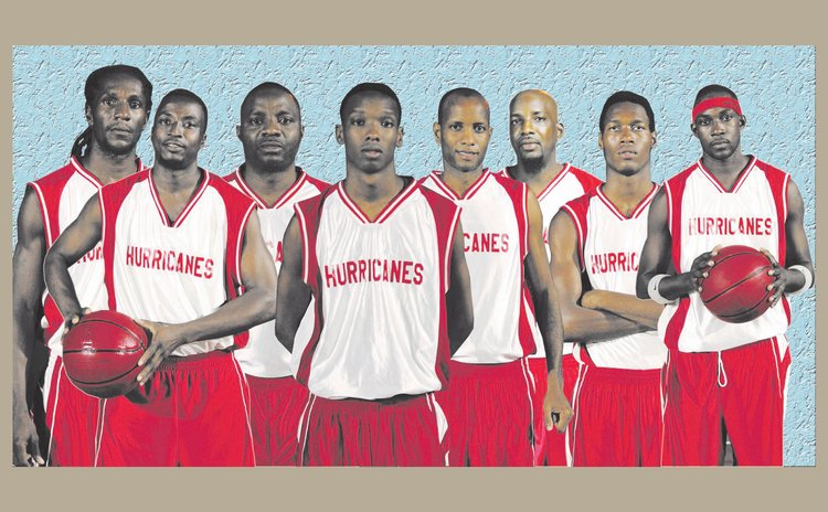 Composite of Kelver Darroux Hurricanes, 2016. Kelver Darroux 4th from Right. Photos Courtesy: St. Joe Hot Up FB Page. Composite by Yannick Bethel