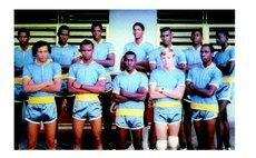 DA's 2nd Island Team, 1968. L-R Back-: W. LeBlanc, G. Daniel, B. Thomas, P. Pemberton, B. Hector, A. St. Hilaire, C. Jno. Baptiste. Front:  G. LaRocque, M. Zamore, A. Loblack, Murray, H. Thomas