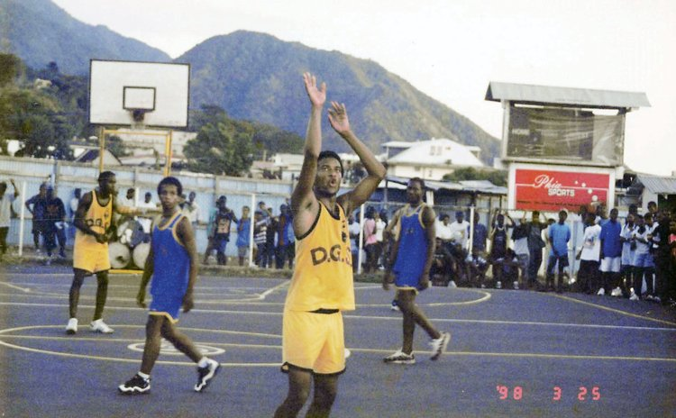 Basketball Game in Progress at old Windsor Park