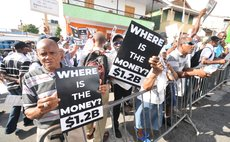 There were frequent protests in 2019- this one is the the UWP demonstrating about unaccounted billions