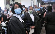 """Friends, relatives and colleagues attend the funeral service of the late Attorney at Law, Magistrate, broadcaster and dramatist Michael Emmanuel """"Mikey"""" Bruney 2"""