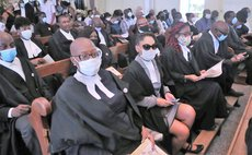 """Friends, relatives and colleagues attend the funeral service of the late Attorney at Law, Magistrate, broadcaster and dramatist Michael Emmanuel """"Mikey"""" Bruney 29"""