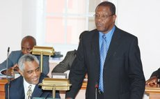 Edison James addressing parliament in 2007