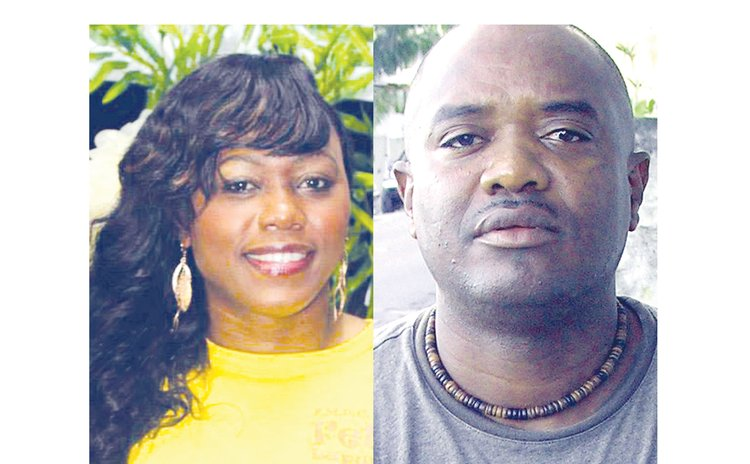 Candidates for the Soufriere bye-election-Denise Charles,left, and Hidges Adams