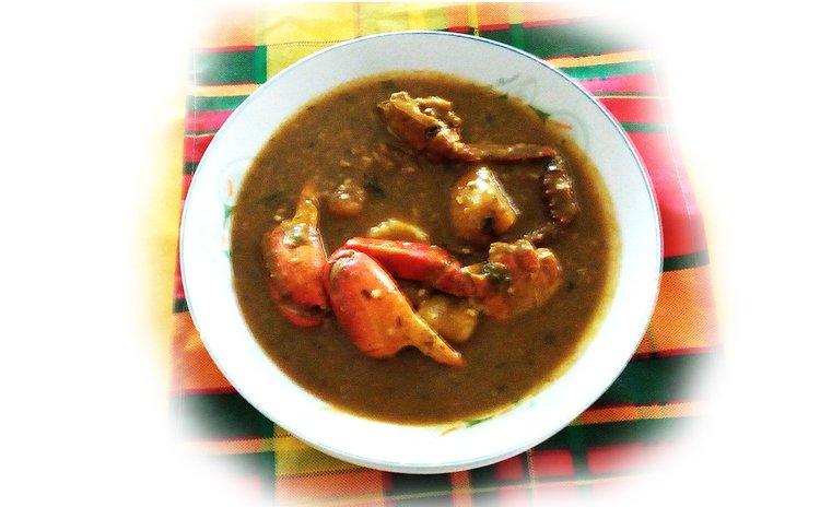 Callaloo and crab dish
