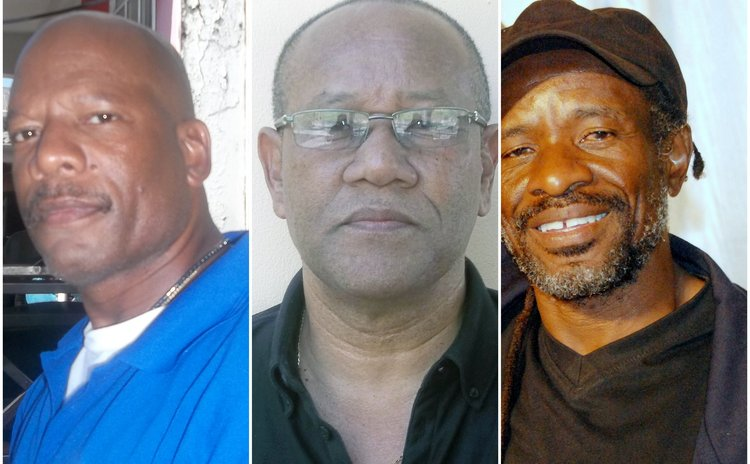 Calypso writers, left to right- Lloyd, Durand and Aaron