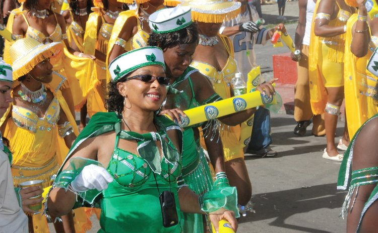 Yvonne Severin Volney in carnival band in 2008
