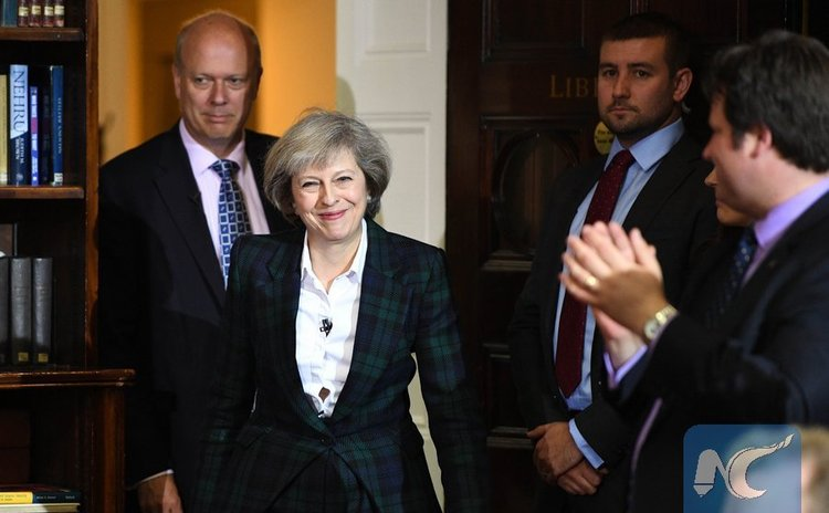 Home SecretaryTheresa May launches her leadership campaign in London, Britain, June 30, 2016.