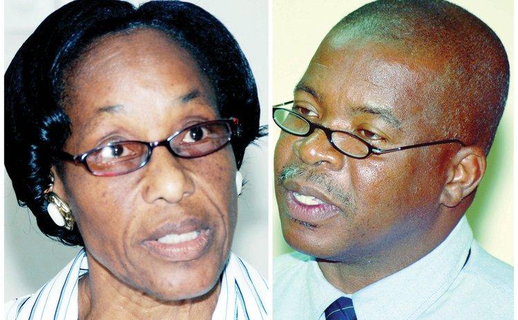 Celia Nicholas (DAT) left and Thomas Letang (DPSU)
