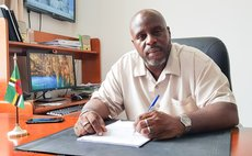 At his desk-Ian Anthony, Chief Elections Officer