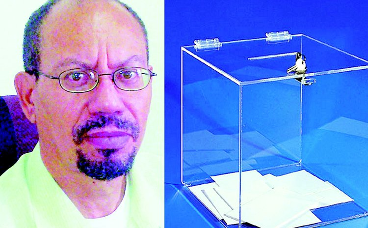 Steven LaRocque and example of transparent ballot box