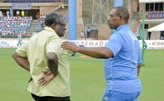 Chief of Selectors Clive Llyod, left, and Coach Phil Simmonds