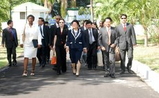 Chinese trade delegation visit the State House, Dominica, in 2007