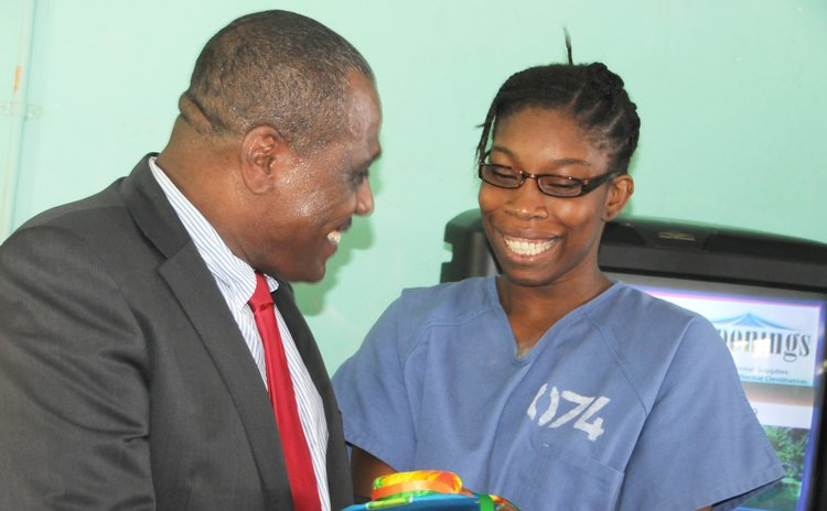 Corbette receives gift from female inmate 074