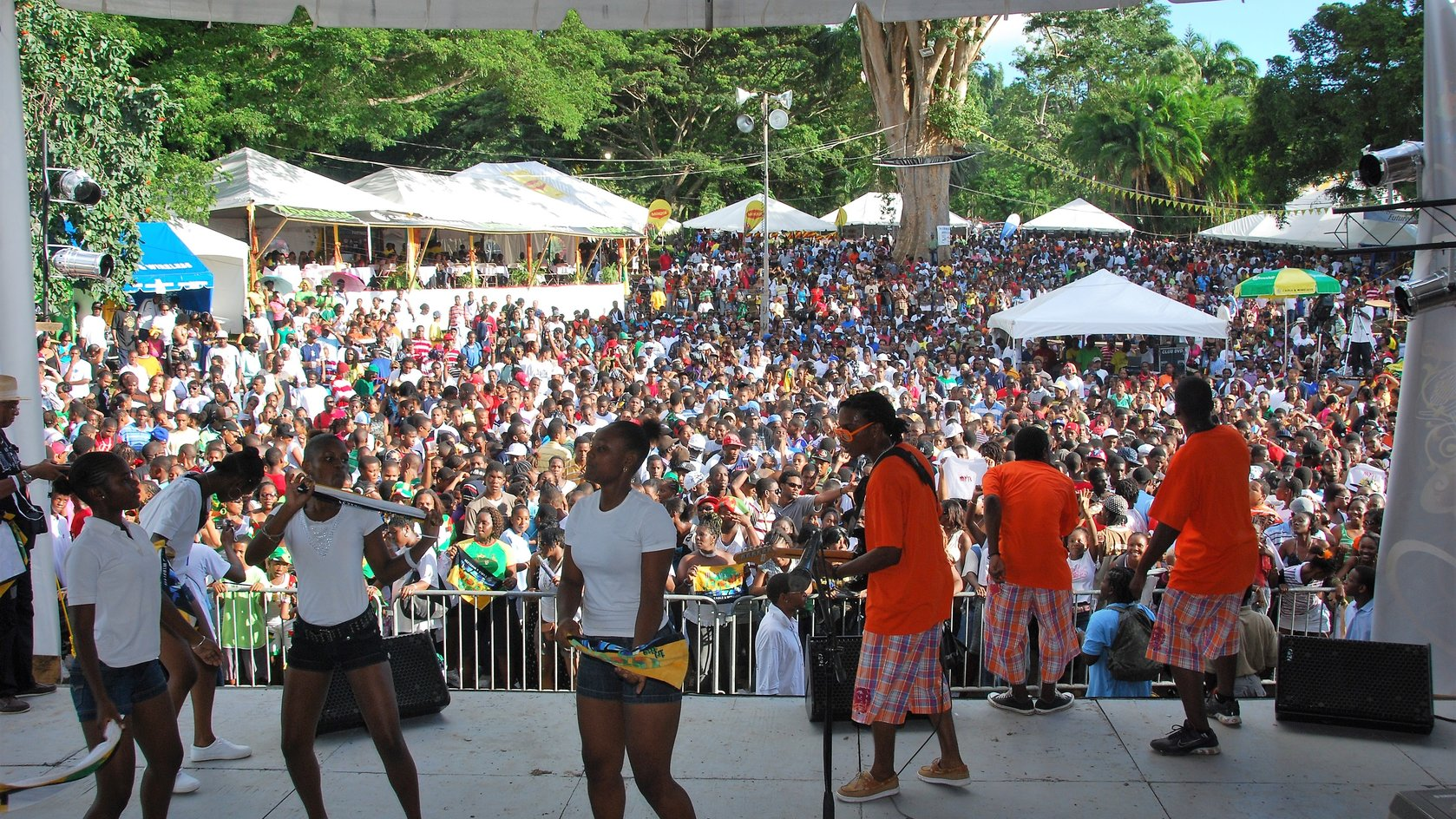 Band performs at Creole in the Park in 2008