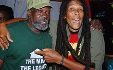Two of Dominica's top musicians- the late Jeff Joseph, left and Nasio Fontaine