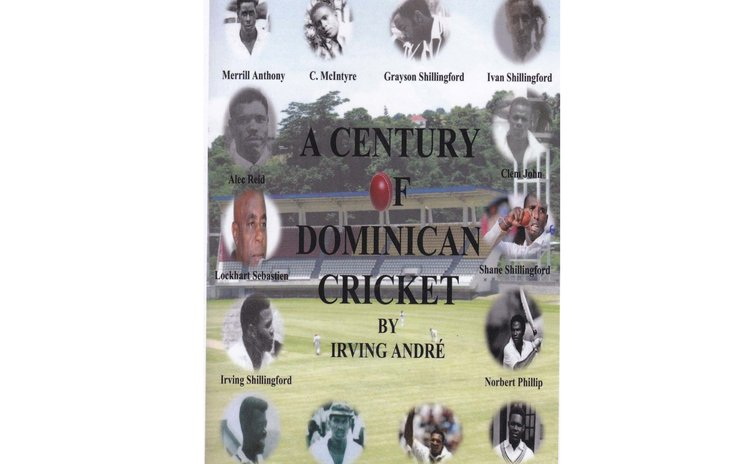 "Cover of the book ""A Century of Dominican Cricket"""
