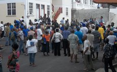 UWP supporters protest near electoral office
