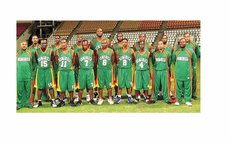 Dominica's National Basketball Team 2011. See story for complete photo caption