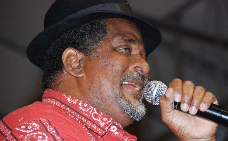 Man-Himself at a calypso finals show