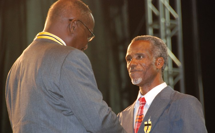 Phillip Matthew receives award from President Liverpool in 2008