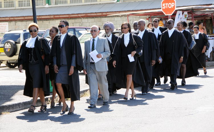 Members of the Dominica Bar at the Opening of the new Law Year