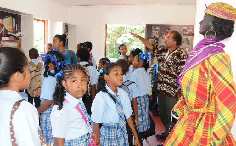Students of the Sineco Primary School at the Museum at the Old Mill Cultural Centre