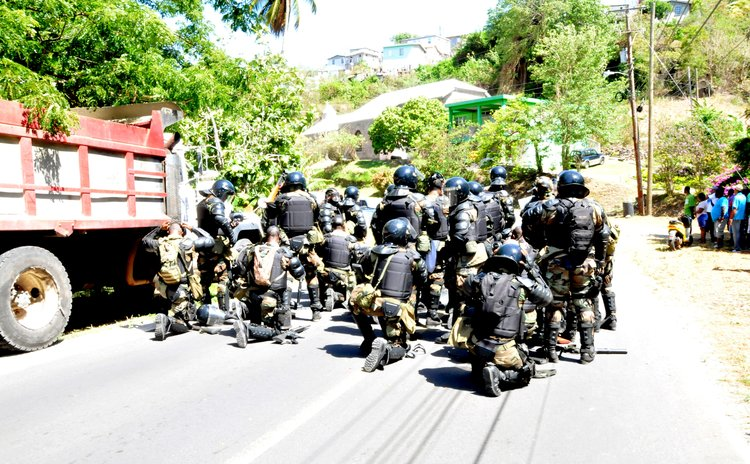 Police get ready for battle on Salisbury road