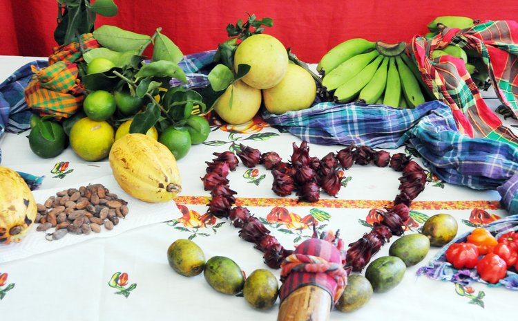 Display of Dominican fruits