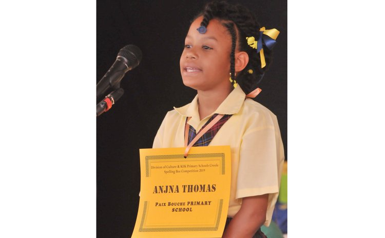 Anjna Thomas wins Creole Spelling Bee