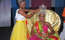 Miss Teen Dominica 2016 Tiffany Eloi of Portsmouth is being crowned