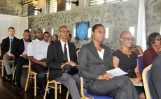 OECS Health officials at a meeting at the Fort Young Hotel