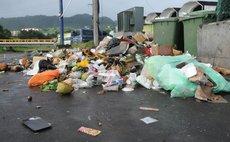 Garbage on Roseau street corner
