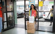 DSc student collects funds for country at HHVW supermarket