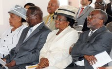 Two former Presidents:Williams and Dr Liverpool and their wives attend Swearing in ceremony