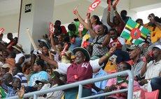 Spectators enjoy cricket at the Windsor Park