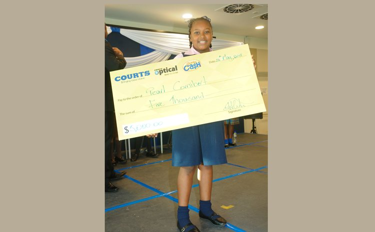 Pearl Cornibert, the 2018 Courts OECS Reading Champion